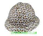 Leopard-White-Cat-Print-Women-MSA-VGard-Full-Brim-Hard-Hat-Side-Extremehardhats